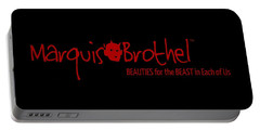 Marquis' Brothel Logo Portable Battery Charger