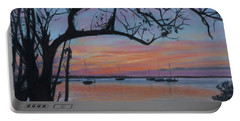 Marsh Harbour At Sunset Portable Battery Charger