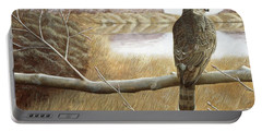 Marsh Hawk Portable Battery Charger by Laurie Stewart