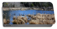 Marsh In Spring Portable Battery Charger