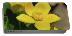 Portable Battery Charger featuring the photograph Marsh Marigold In Sun by Rachel Cohen