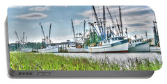 Marsh View Shrimp Boats Portable Battery Charger