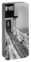 Portable Battery Charger featuring the photograph Marshall Point Light And Lobster Boat by Daniel Hebard