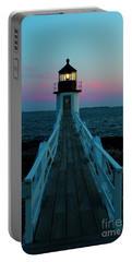 Marshall Point Lighthouse At Sunset Portable Battery Charger