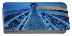 Marshall Point Lighthouse At Sunset, Maine, Usa Portable Battery Charger