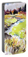 Portable Battery Charger featuring the painting Marshland by Rae Andrews