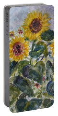 Martha's Sunflowers Portable Battery Charger