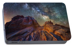 Portable Battery Charger featuring the photograph Martian Landscape by Darren White