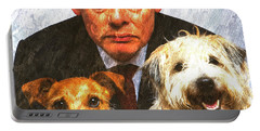 Martin Clunes As Doc Martin With Dogs Oil Painting Portable Battery Charger