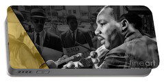 Martin Luther King Collection Portable Battery Charger by Marvin Blaine