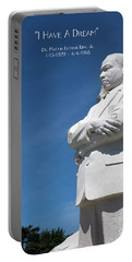 Portable Battery Charger featuring the photograph Martin Luther King Jr. Monument by Steven Frame