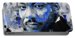Portable Battery Charger featuring the painting Martin Luther King Jr by Richard Day
