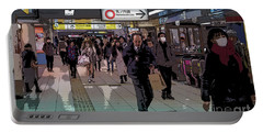 Portable Battery Charger featuring the photograph Marunouchi Line, Tokyo Metro Japan Poster by Perry Rodriguez