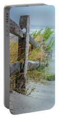 Portable Battery Charger featuring the photograph Marvel Of An Ordinary Fence by Patrice Zinck