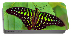 Marvelous Malachite Butterfly 2 Portable Battery Charger