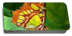 Marvelous Malachite Butterfly Portable Battery Charger