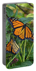 Marvelous Monarchs Portable Battery Charger by Carol Bradley