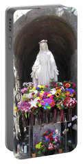 Mary At The Mission Portable Battery Charger by Mary Ellen Frazee
