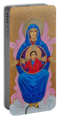Mary Mother Of Mercy Icon - Jubilee Year Of Mercy Portable Battery Charger