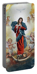 Mary Untier Of Knots Portable Battery Charger