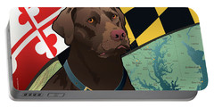 Maryland Chocolate Lab Portable Battery Charger