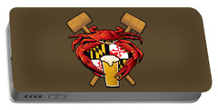 Maryland Crab Feast Crest Portable Battery Charger