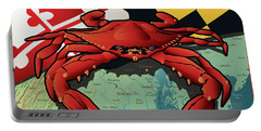 Maryland Red Crab Portable Battery Charger