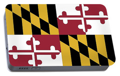 Portable Battery Charger featuring the photograph Maryland State Flag by Robert Banach