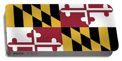 Maryland State Flag Portable Battery Charger by Robert Banach