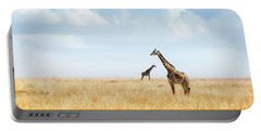 Masai Giraffe In Kenya Plains Portable Battery Charger