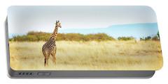 Masai Giraffe Walking In Kenya Africa Portable Battery Charger