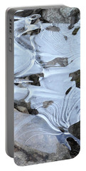 Portable Battery Charger featuring the photograph Ice Mask Abstract by Glenn Gordon