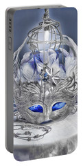 Mask Still Life Blue Portable Battery Charger