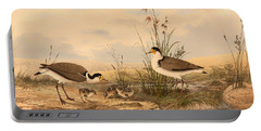 Masked Lapwing Portable Battery Charger by Mountain Dreams