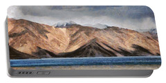 Massive Mountains And A Beautiful Lake Portable Battery Charger