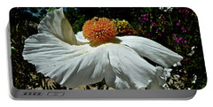 Matilija Poppy Two Portable Battery Charger