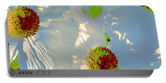 Matilija Poppies Pop Art Portable Battery Charger by Ben and Raisa Gertsberg