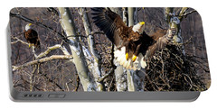 Mating Pair At Nest Portable Battery Charger by Randall Branham
