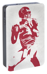 Matt Ryan Atlanta Falcons Pixel Art 2 Portable Battery Charger by Joe Hamilton
