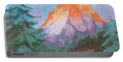 Portable Battery Charger featuring the painting Matterhorn Sunrise by Diane McClary
