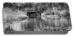 Matthaei Botanical Gardens Black And White Portable Battery Charger by Pat Cook