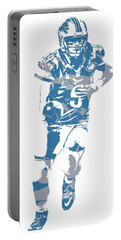 Matthew Stafford Detroit Lions Pixel Art 20 Portable Battery Charger