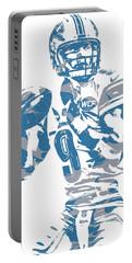 Matthew Stafford Detroit Lions Pixel Art 21 Portable Battery Charger