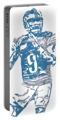 Matthew Stafford Detroit Lions Pixel Art 5 Portable Battery Charger