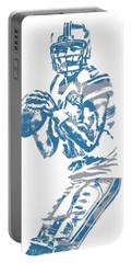 Matthew Stafford Detroit Lions Pixel Art 6 Portable Battery Charger