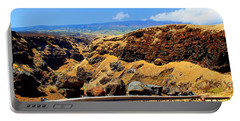 Portable Battery Charger featuring the photograph Maui Manawainui Gulch by Michael Rucker