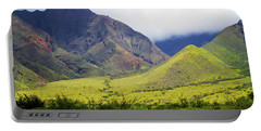 Portable Battery Charger featuring the photograph Maui Mountains by Patricia Griffin Brett