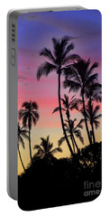 Maui Palm Tree Silhouettes Portable Battery Charger