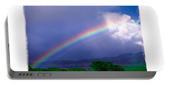 Portable Battery Charger featuring the photograph Maui Rainbow by Marie Hicks