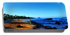 Portable Battery Charger featuring the photograph Maui Sunrise On The Beach by Michael Rucker